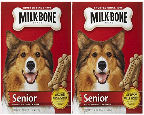 Milk-Bone Original Senior Dog Biscuits, 20 Ounce, (Pack of 2) (Bone Biscuit Dog)