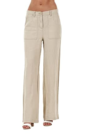 656f654f97 Ex Highstreet Ladies Linen Trousers Holiday Womens Elasticated Summer  Casual Pants