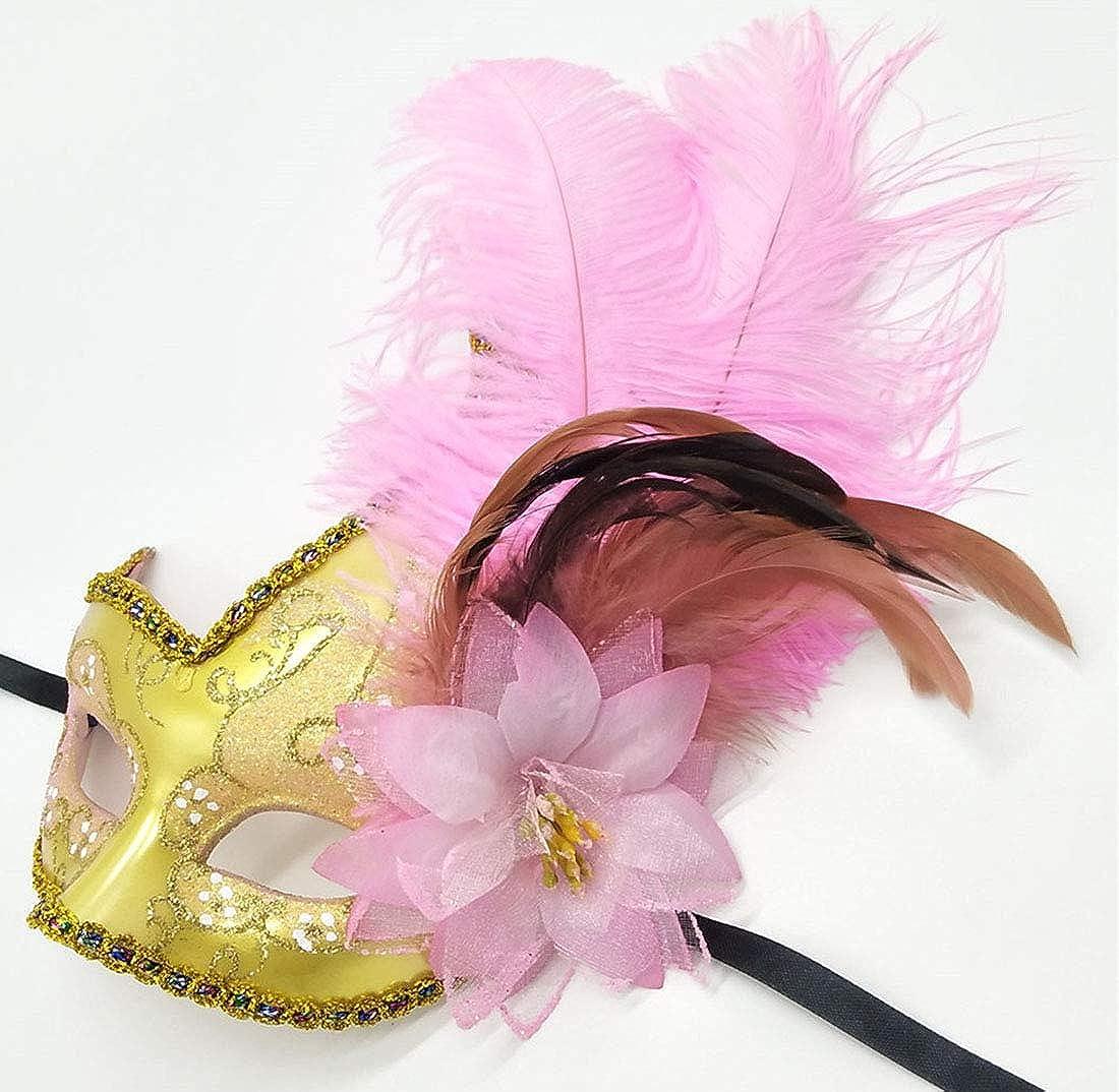 Biruil Feather Masquerade Mask Eyemask Halloween Mardi Gras Cosplay Party Face Mask