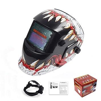 MTSBW Soldadura Helmetsolar Casco Solar Power Auto oscurecimiento Campana Soldador máscara Transpirable molienda Cascos con Rango de Sombra Ajustable: ...