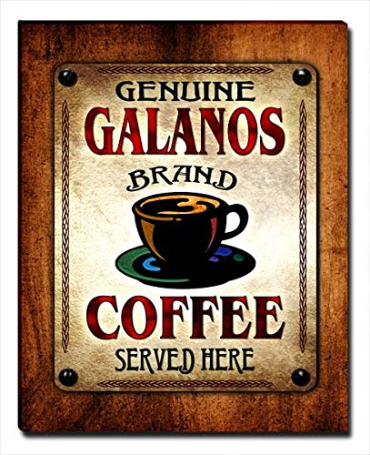 Used, ZuWEE Galanos's Coffee Family Name Gallery Wrapped for sale  Delivered anywhere in USA