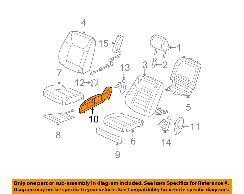 Honda Genuine 81238-SZA-A41ZC Seat Reclining Cover