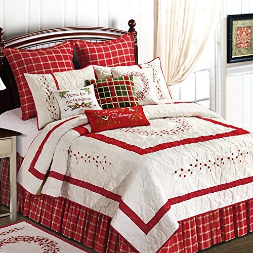 Berry Wreath Boudoir Home for the Holidays Pillow by C & F