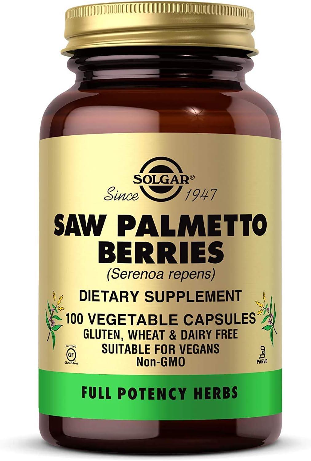 Solgar – Full Potency Saw Palmetto Berries, 100 Vegetable Capsules: Health & Personal Care