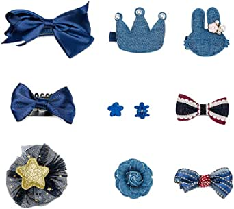 HaloVa Hair Accessories Baby Little Girls Hair Clips Bows Barrettes Hairpins Set