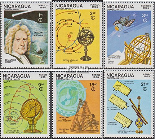 Nicaragua 2621-2626 (Complete.Issue.) 1985 Halley Comet (Stamps for Collectors) Space