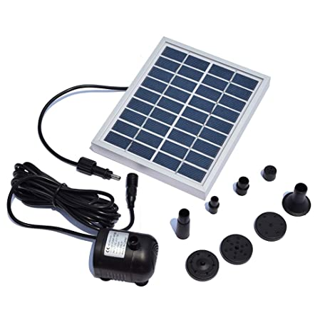 Fronnor 5W Solar Water Pump Landscape Pool Garden Solar Fountains Solar  Powered Decorative Outdoor Water Fountains