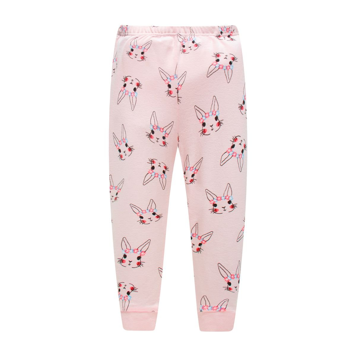 Girls Pajamas Easy Long Sleeves Toddler Pattern Rabbit Pjs Sleepwear 2 Piece