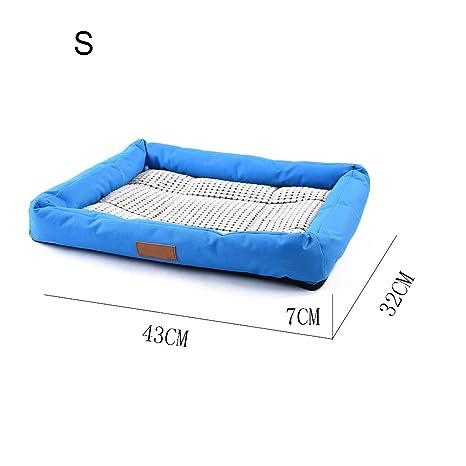 Animal doméstico refrigeración desplegable para dormir cama para perro gato Verano Transpirable Bambú Mats fácil de