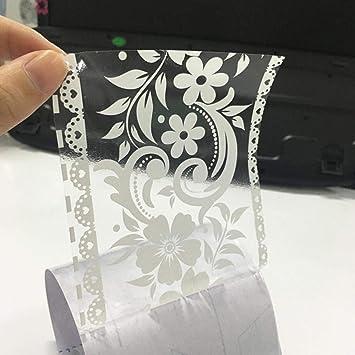 Hbos White Transparent Lace Removable Border Decoration Wallpaper