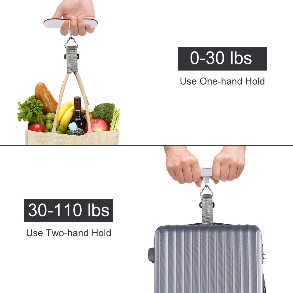Hochoice 2-in-1 Digital Luggage Scale Portable Travel Scale Suitcase Scale with 2600mAh Fast Charge Power Bank 110lbs//50kg Blue Digital Handheld Travel Bags Scale