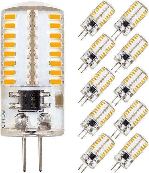 Dimmable LED G4 Bi-Pin Base Bulbs Spotlight Light Bulb Lamps AC//DC 12v Chandelier,5-Pack 30W Equivalent ,320 Lumen,Warm White 3000K 3.5W for Home Lighting,Landscape Light,Ceiling Lights