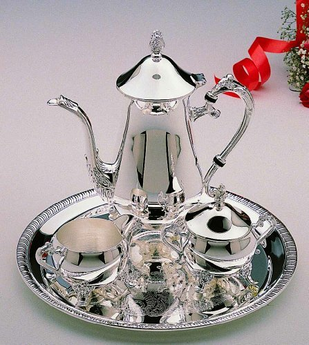 Elegance Silver 8917 Hotel Collection Coffee Service Set, 4 ()