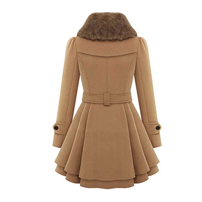 Amazon.com: Welcometoo Wool & Blends Coats Female Jacket Windbreaker Plus Size Abrigos Mujer Invierno: Clothing