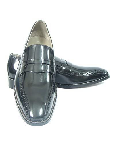 Asm Black Pump Shoe - Formal Leather Oxford/Brogue Shoes Handmade Neolite Sole Soft Leather Insole Fully Soft Leather Lining and PU Foot Pad For Optimum Comfort For Men - HU137