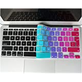 DEWANG Keyboard Cover Silikon Skin für MacBook Pro 33 cm 38,1 cm 43,2 cm (mit oder w/out Retina Display) iMac und MacBook Air 33 cm New Rainbow