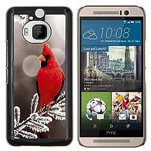 EJOOY---Cubierta de la caja de protección para la piel dura ** HTC One M9Plus M9+ M9 Plus ** --Red Bird Majestic