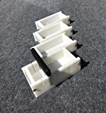 Lot of 3 HDPE Soap Loaf Making Mold and Multi Slot Soap Cutter 1 - 2 lb per mold