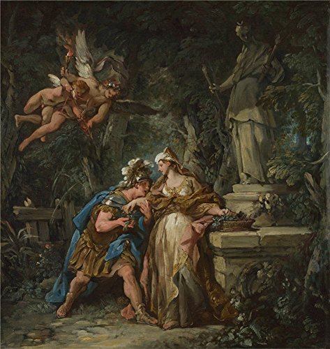 The Polyster Canvas Of Oil Painting 'Jean Franois Detroy Jason Swearing Eternal Affection To Medea ' ,size: 10 X 11 Inch / 25 X 27 Cm ,this Imitations Art DecorativePrints On Canvas Is Fit For Foyer Gallery Art And Home Decoration And Gifts