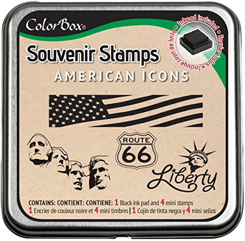 Clearsnap ColorBox Souvenir Stamps, American - American Holding Flag