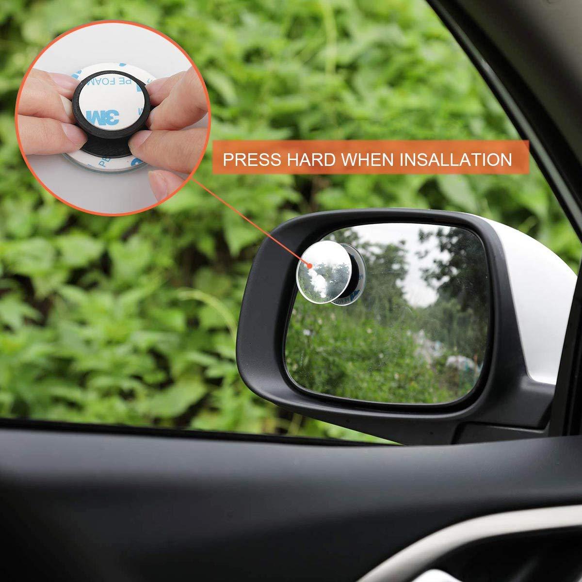 confezione da 2 Specchietto cieco,Specchietti per angolo morto,Ytesky Specchi ciechi Convesso Retrovisore Laterale Specchio Laterale Regolabile