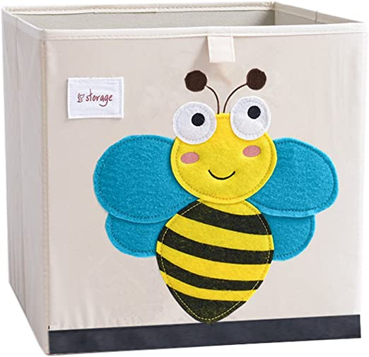 Dots Kids Animal Tote ABC Alphabet Fabric Bin Kids Girls Boy Personalized Bedroom Baby Nursery Organizer for Toys or Clothing FB0065