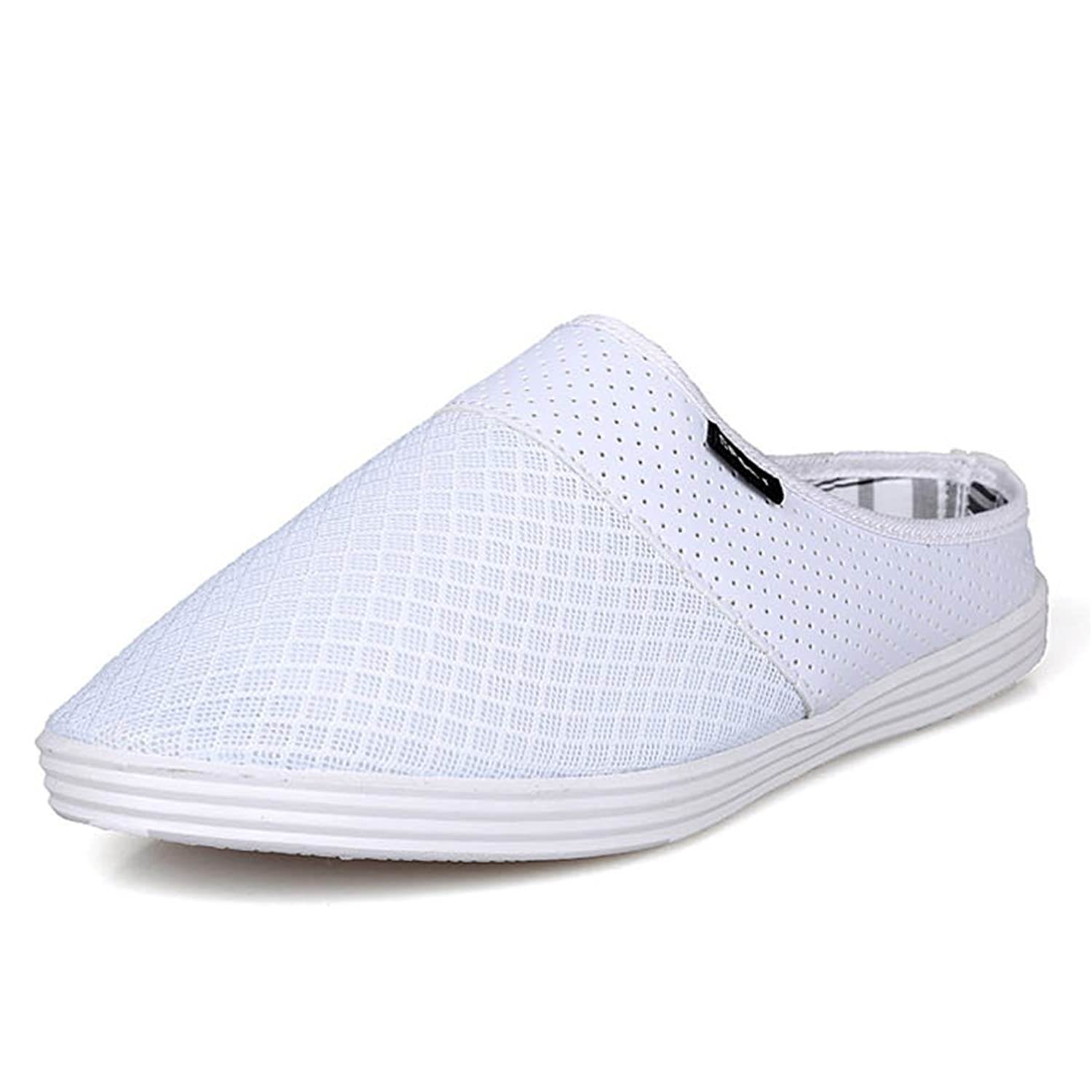 ASlibay Casual Semi-slippers Mesh Breathable Round Toe Slip-on Men Sandals