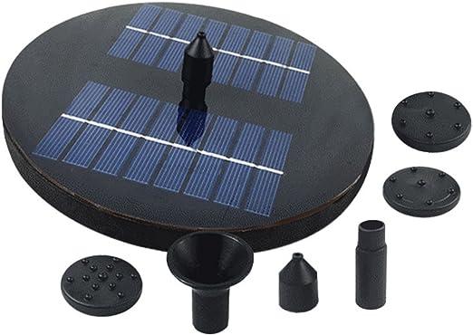 BESTOMZ Bomba de agua solar de 1.6W con luces LED Fuente de agua sumergible de riego al aire libre para estanque Piscina Fuentes del acuario Jardín de chorro Patio: Amazon.es: Jardín