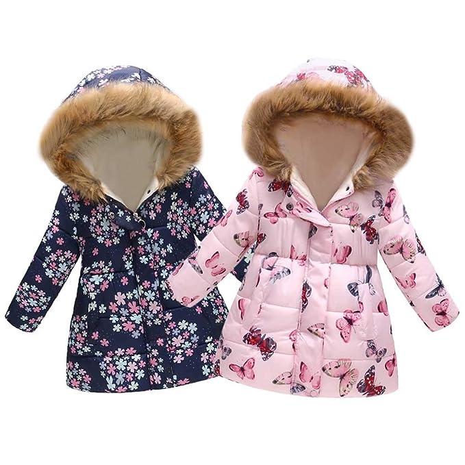 6077bafe5 Amazon.com  Sunbona Toddler Baby Boys Girls Faux Fur Hooded Down ...
