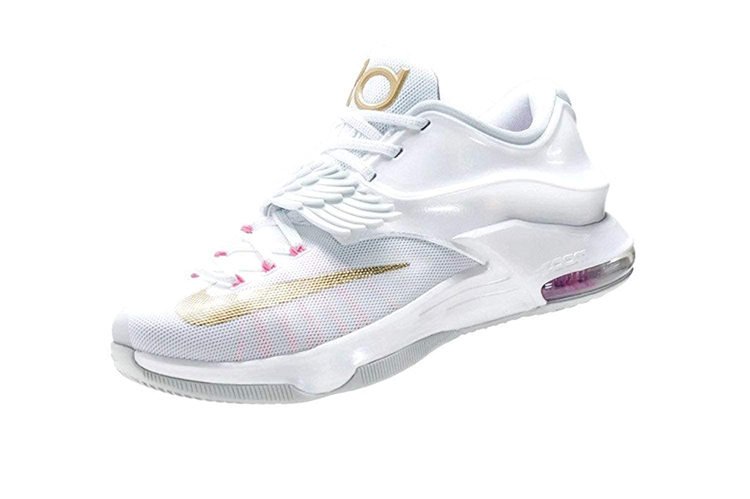 separation shoes ceb71 beb87 Nike Mens KD VII 7 Premium Aunt Pearl Size 11, WhitePink PowPure  PlatinumMetallic Gold, 10 D(M) UK45 D(M) EU Amazon.co.uk Shoes  Bags