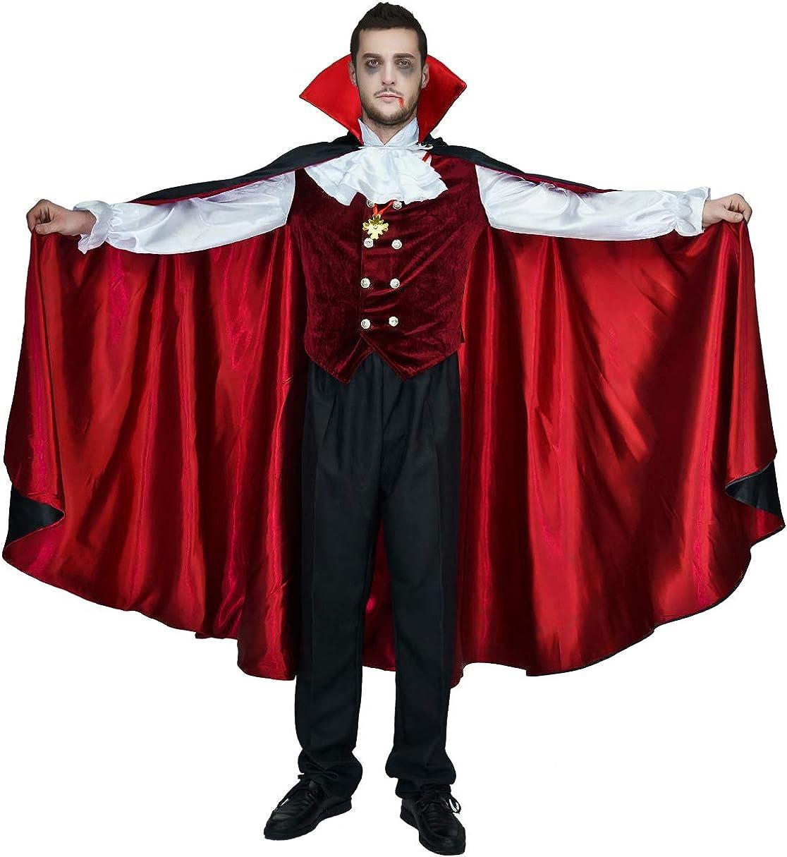 Mens Count Bloodthirst Costume Vampire Adult Dracula Halloween Fancy Dress