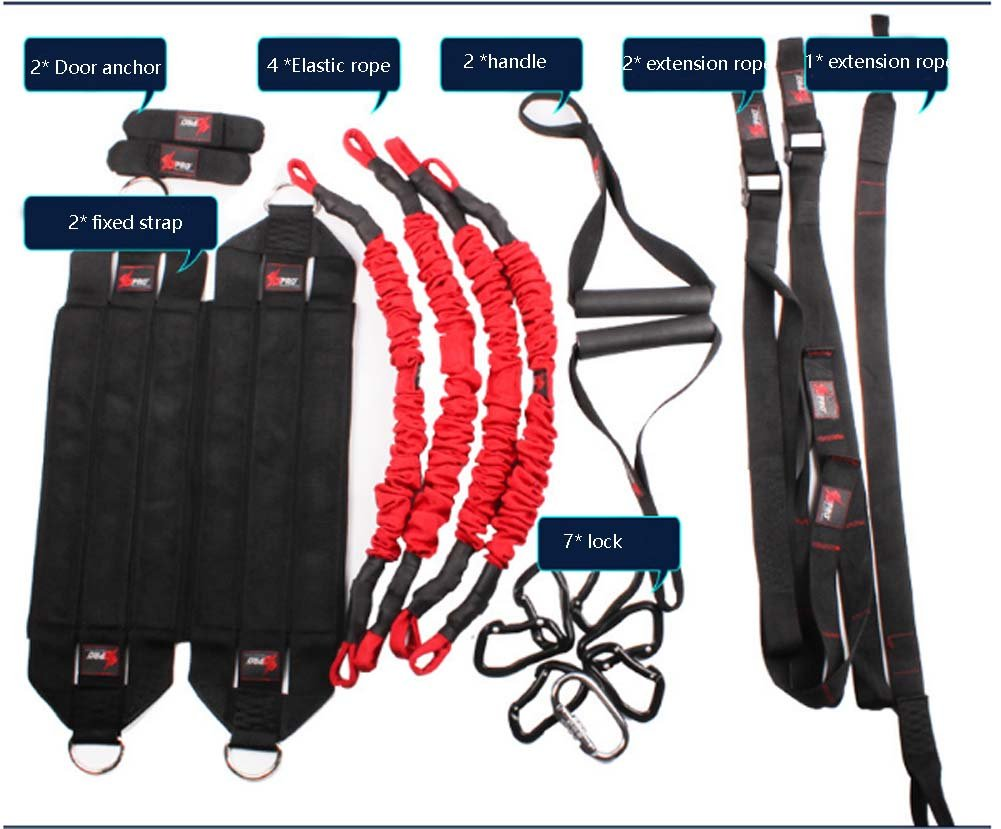 YNXing Aerial vitality bungee rope| resistance rope |air yoga stretch belt |yoga rope fitness vitality rope for Men and Woman by YNXing (Image #2)