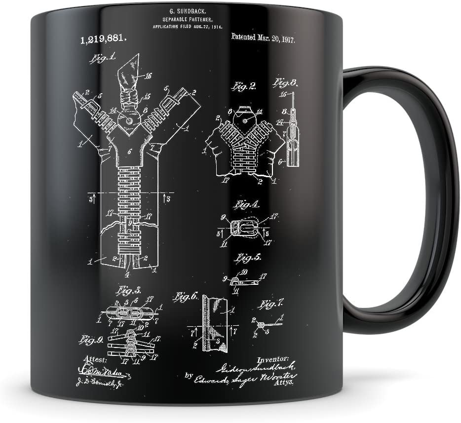 Amazon Com Fashion Designer Gifts For Men And Women Fashion Design Mug For Student Graduation Or Workplace Best Couturier Themed Gift Idea Cool Zipper Invention Patent Kitchen Dining