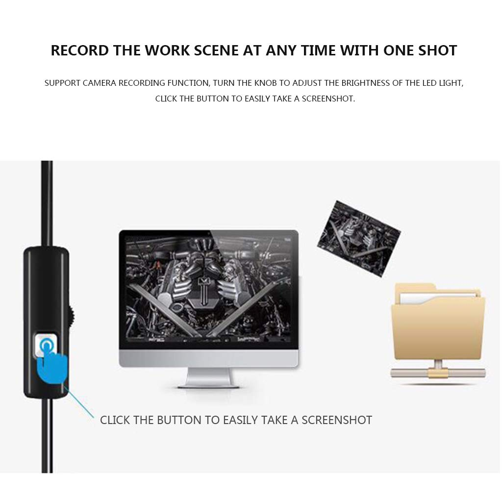 10 Meters Wireless Pipeline Examination Camera Endoscope 1200P HD Waterproof Chargeable Endoscope 8 LED Lights 8mm Diameter