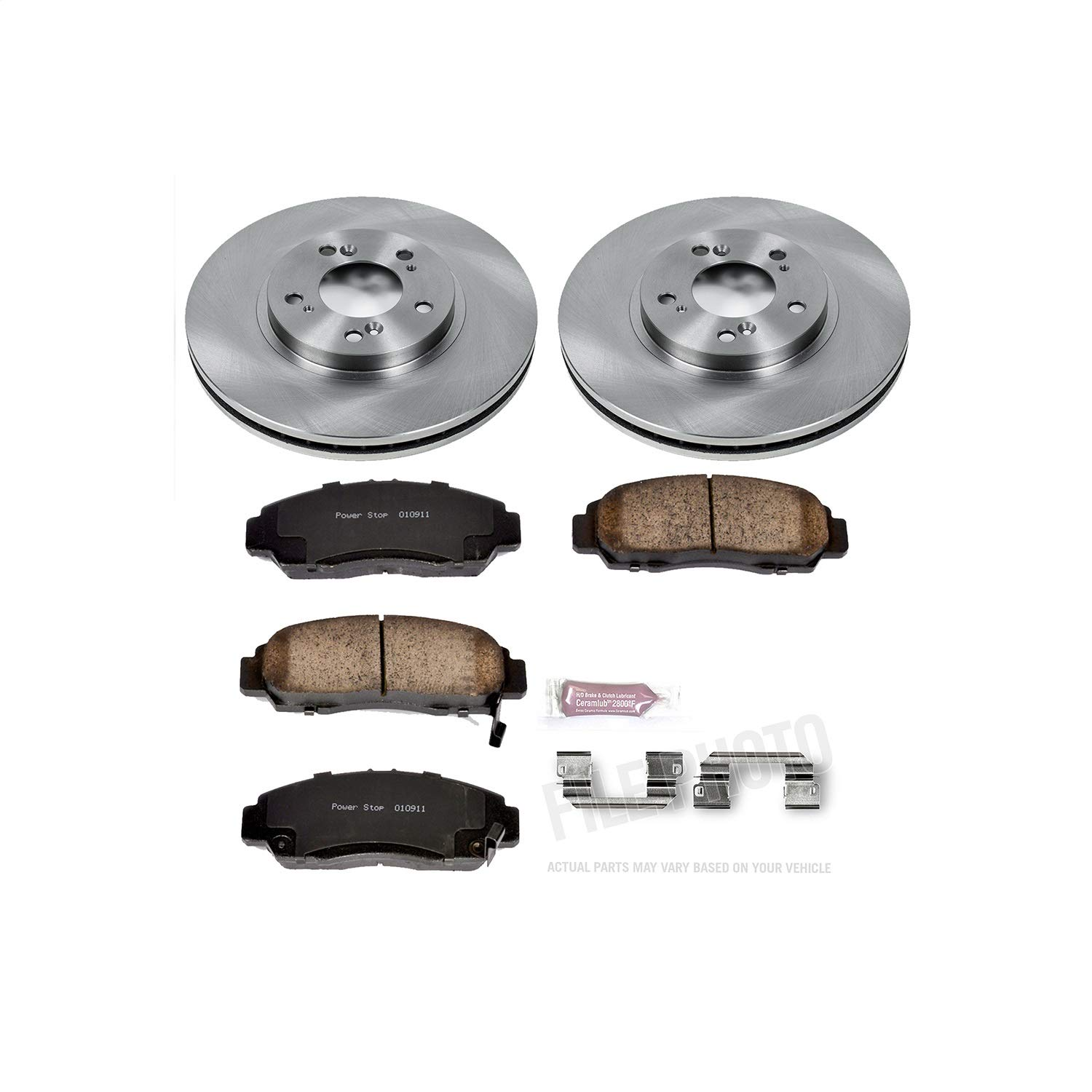 Autospecialty KOE2309 Daily Driver 1-Click OE Replacement Front Brake Kit