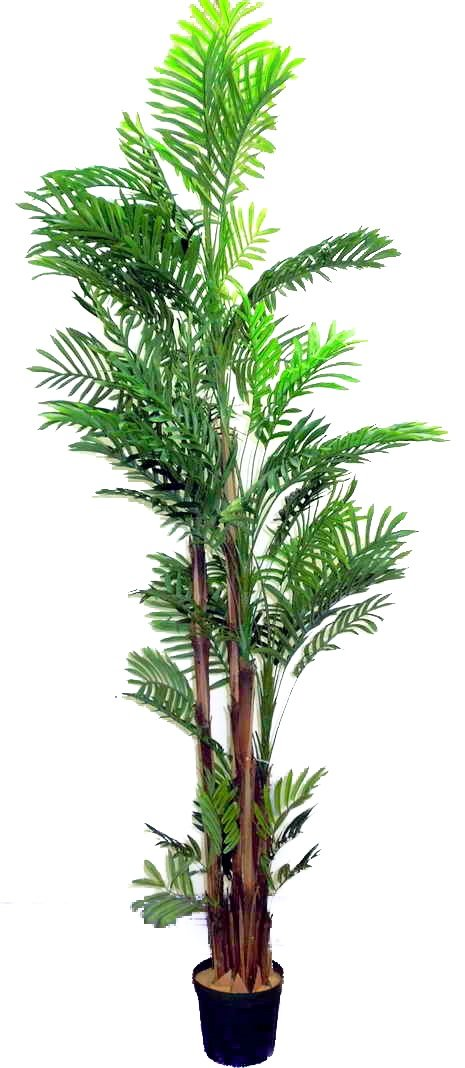 Admired By Nature 7' Artificial Areca Palm Tree Plant in Plastic Pot, Green by Admired By Nature