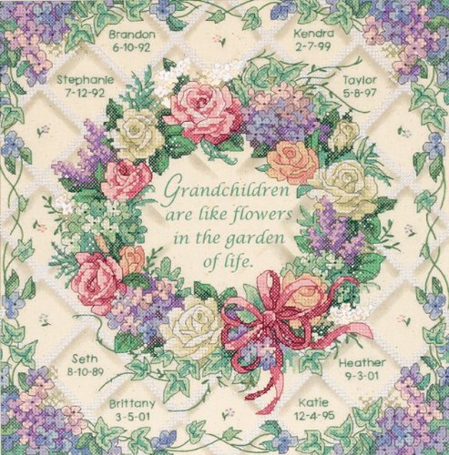 Dimensions Needlecrafts Stamped Cross Stitch, The Flowers Of