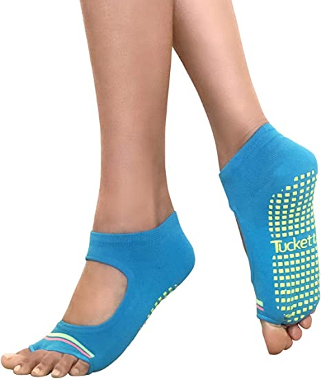 Open Toe Yoga Socks with non slip grippers