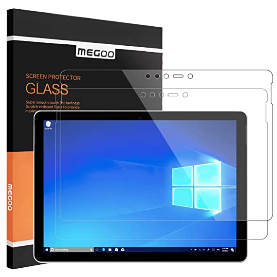 [2 Pack] MEGOO Surface Go Screen Protector [Tempered Glass] [Lifttime Warranty] [Easy Installation] [Bubble Free] [Anti-Scratch], Screen Protector for ...
