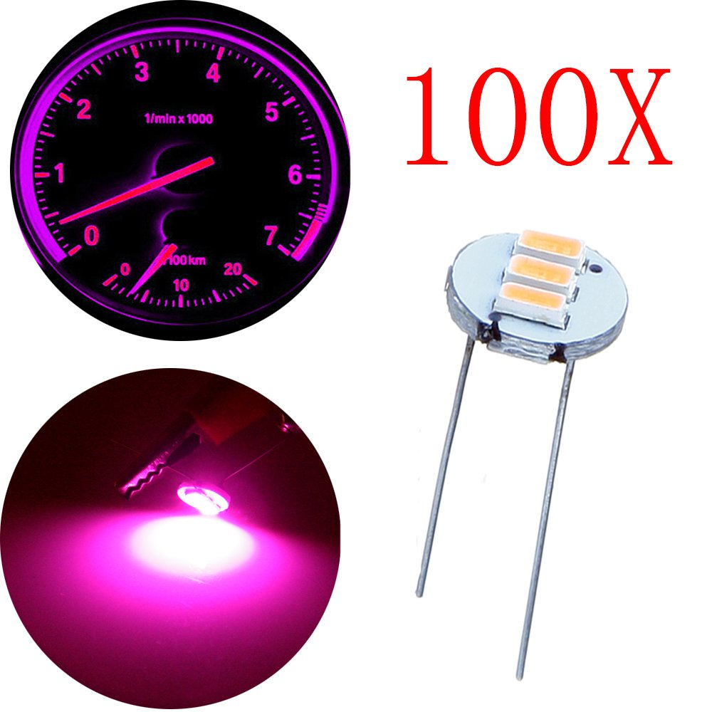 Cciyu 100pcs 47mm 12v Car Purple Mini Bulbs Lamps 1965 Chevy C10 Instrument Panel Wiring Together With 1937 Indicator Cluster Speedometer Backlight Lighting For Gm Gmc Automotive