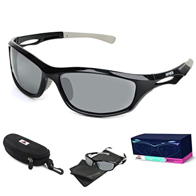 mens sport sunglasses a4kc  AFARER Polarized Sport Sunglasses for men women Outdoor Driving Fishing  Cycling Running Golf with TR90 Unbreakable