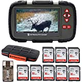 Stealth Cam SD Card Reader and Viewer with Touch Screen 4.3 LCD + 8 16GB SD Cards + Rugged Storage Case