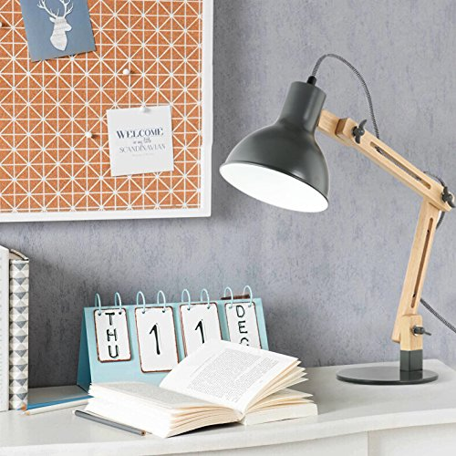 Light Society Galvan LED Task Table Lamp with LED Bulb - Best Contemporary