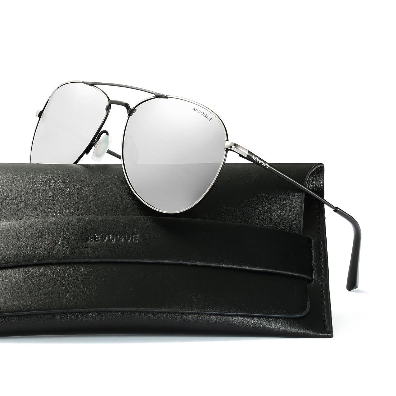AEVOGUE Aviator Polarized Sunglasses Premium Full Mirrored Retro AE0523