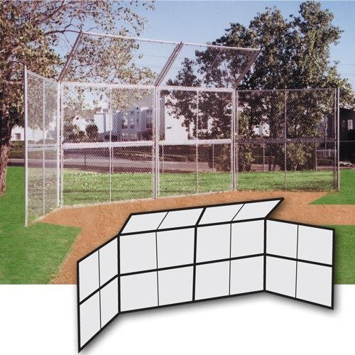 SSG / BSN Chain Link Backstop - 20 ft. with Hood and no Wings by SSG