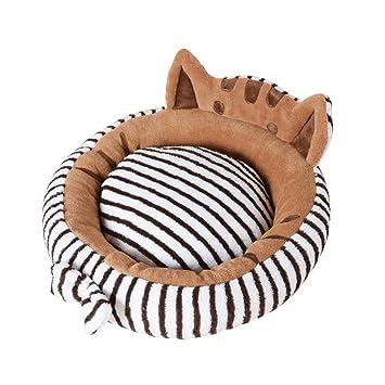 G-lucky Cama de Gato/Cama de Perro pequeño,Cama de Mascotas,Redondo,Disponible en Todas Las Estaciones,S/M: Amazon.es: Productos para mascotas
