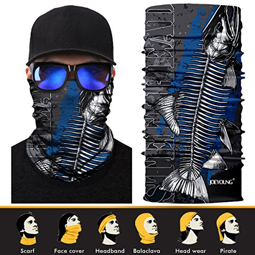 JOEYOUNG 3D Face Sun Mask, Headwear, Neck Gaiter, Magic Scarf, Balaclava, Bandana, Headband for Fishing, Hunting, Hiking, Yard Work, Moisture Wicking UV Protection, Great for Men & Women