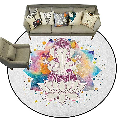 Chandra Splash (Hippie,Carpet mat Paint Splash Style Modern Far Eastern Character Spiritual Relaxation Yoga Zen Theme D40 Long Kitchen Mat Bath Carpet)