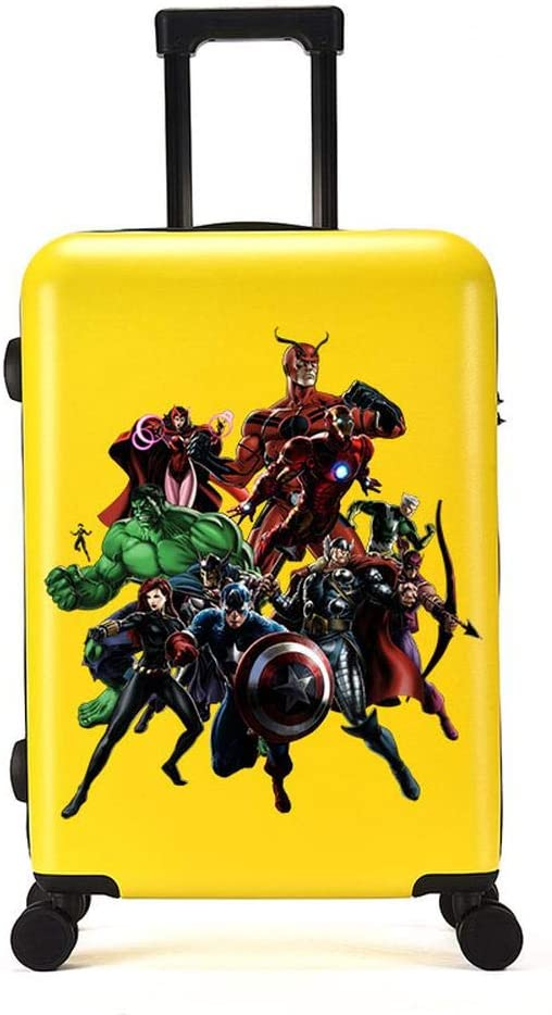RGLTY Avengers Bolsas para Niños Funda De Viaje Multifunción Hulk Iron Man Bolsas Capitán América Estuche Informal para Trolley 4-18 Inches