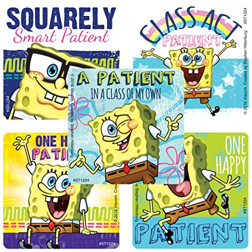 Sticker Squarepants Spongebob - SmileMakers Spongebob Squarepants Patient Stickers - Prizes 100 Per Pack